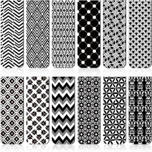 Load image into Gallery viewer, Black & White Geometric Magnetic Bookmark