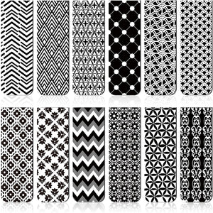 Black & White Geometric Magnetic Bookmark