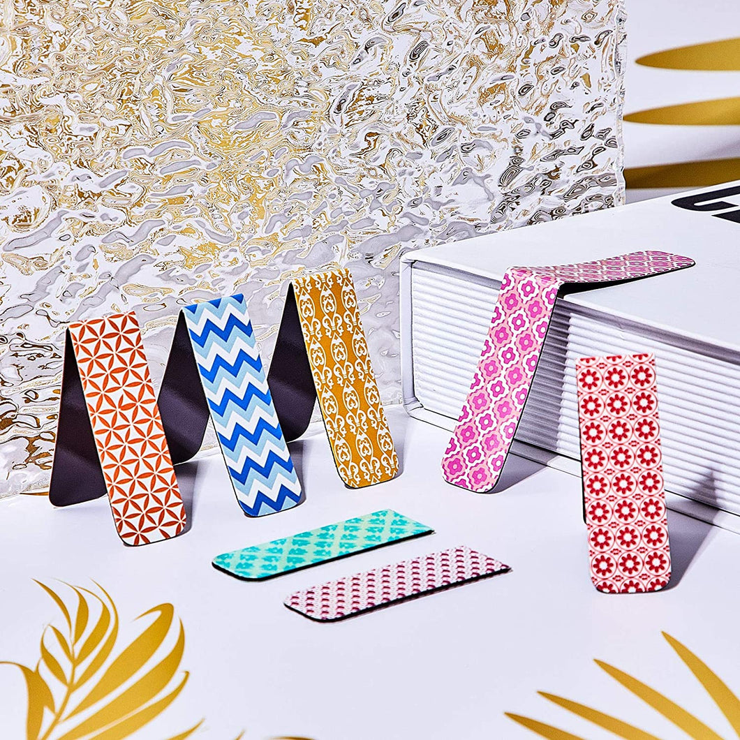 Bright Patterned Magnetic Bookmark