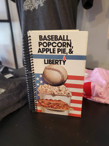 Baseball, Popcorn, Apple Pie & Liberty Repurposed Book Journal