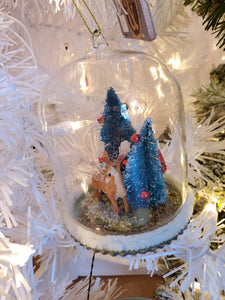 Domed Reindeer Ornament - Time & Again Shop