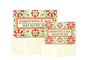 Peppermint & Aloe Shea Butter Soap