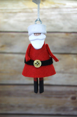 Santa Clothespin Ornament - Time & Again Shop