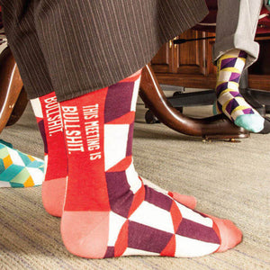 This Meeting is Bulls*&t Women's Socks