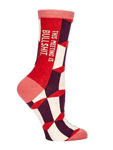 This Meeting is Bulls*&t Women's Socks - Time & Again Shop