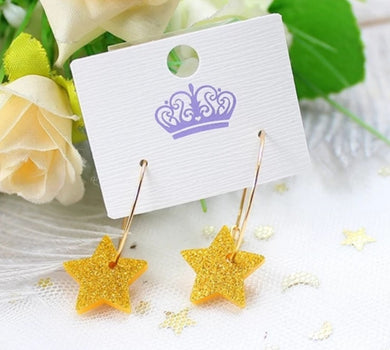 Gold Acrylic Star Earrings