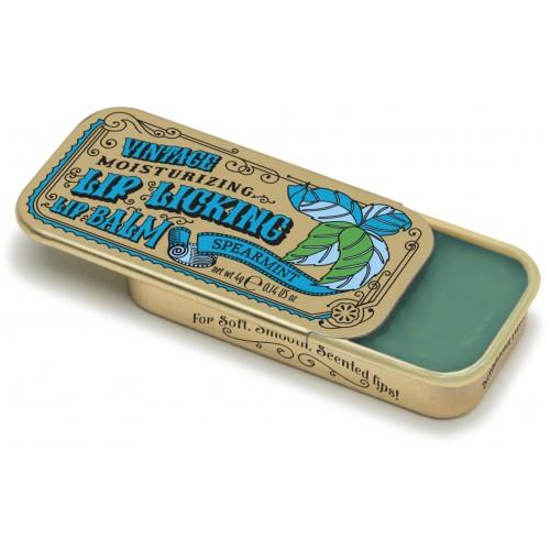 Spearmint Retro Lip Licking Balm Slider Tin