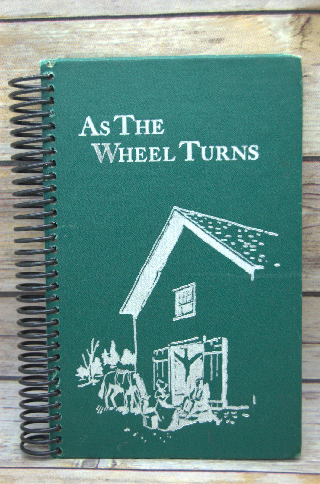 As The Wheel Turns Repurposed Book Journal