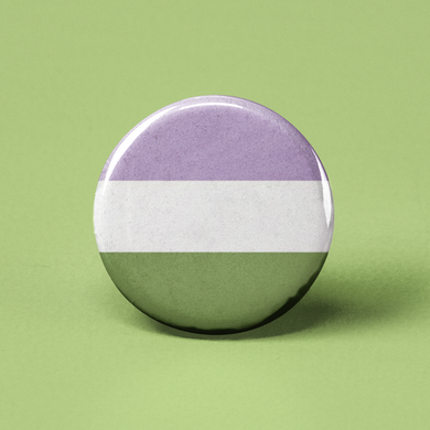 Genderqueer Flag Pinback Button