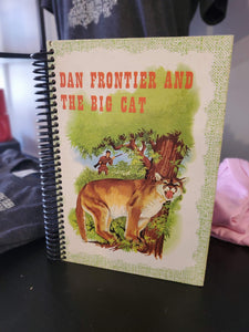 Dan Frontier and the Big Cat Repurposed Book Journal