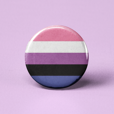 Genderfluid Flag Pinback Button