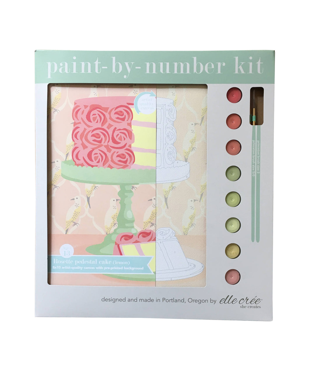 Rosette Pedestal Cake Paint-by-Number
