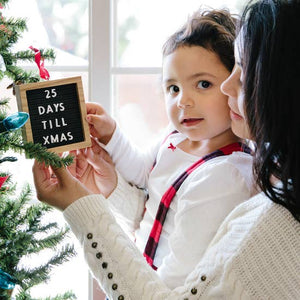 Holiday Letterboard Ornament Set