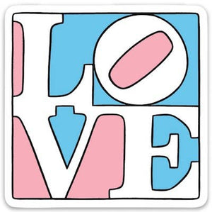 Trans Love Die Cut Sticker