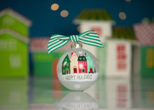 Load image into Gallery viewer, Happy Holidays Village Christmas Ornament