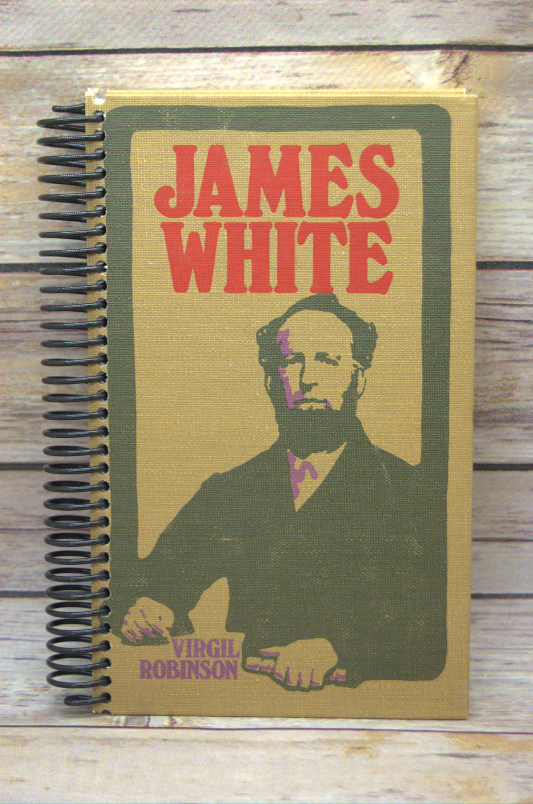 James White Repurposed Book Journal