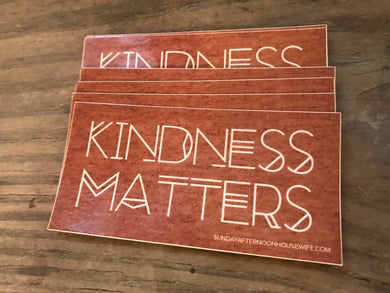 Kindness Matters Sticker - Time & Again Shop
