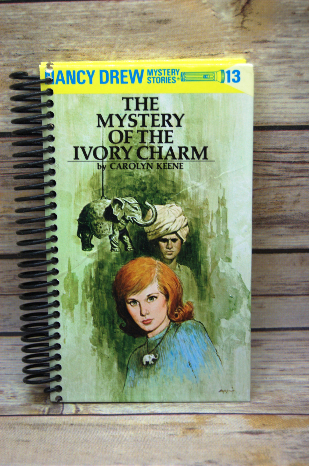 The Mystery of the Ivory Charm Nancy Drew Repurposed Book Journal