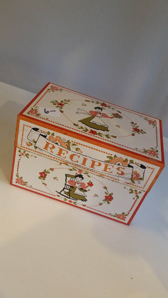 Vintage Metal Recipe Box - Time & Again Shop