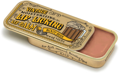 Root Beer Retro Lip Licking Balm Slider Tin