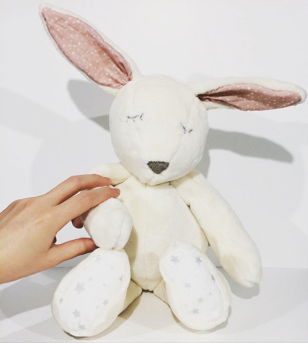 Doudou-fait-main-Le Lapin-Made-in-France-CamilledeGuillebon