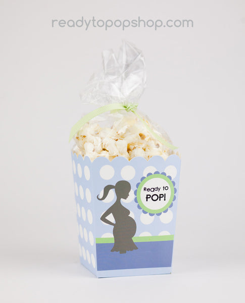 Ready To Pop Baby Shower Popcorn Favor Box