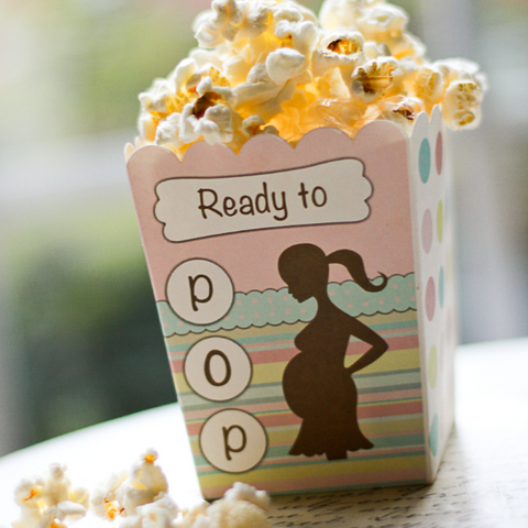 Ready To Pop Baby Shower Theme And Popcorn Favor Boxes