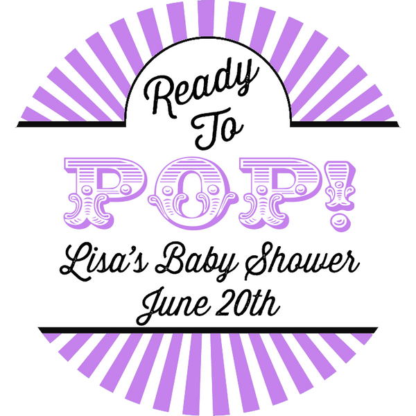 Ready To Pop® Circus Theme Personalized Round Sticker Label