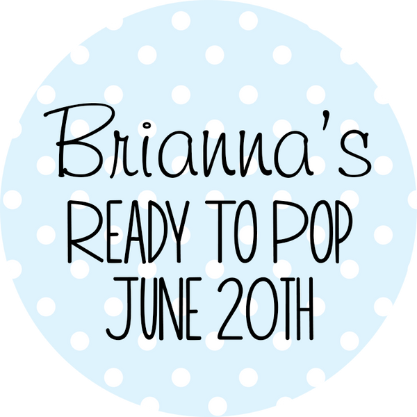 Ready To Pop® Polka Dots Personalized Round Sticker Label