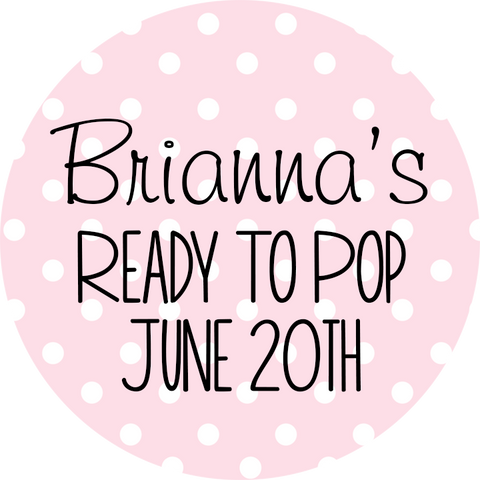eady To Pop® Polka Dots Personalized Round Sticker Label