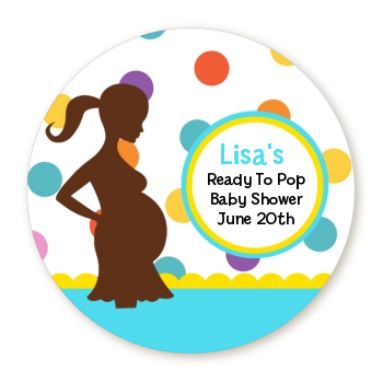 Ready To Pop® Bright Colorful Dots - Personalized Round Sticker Label