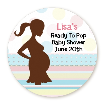 Ready To Pop Pastel Colors - Personalized Round Sticker Label