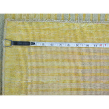 "Load image into Gallery viewer, 2'8""x7'10"" Pure Wool Modern Gabbeh Raised Pile Runner Hand Knotted Rug FWR161358"