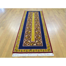 "Load image into Gallery viewer, 2'9""x8'3"" Striped Kashkuli Runner Pure Wool Hand Knotted Oriental Rug FWR161370"