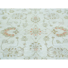 "Load image into Gallery viewer, 6'x8'9"" Oushak Ivory Pure Wool White Wash Hand Knotted Oriental Rug FWR161646"