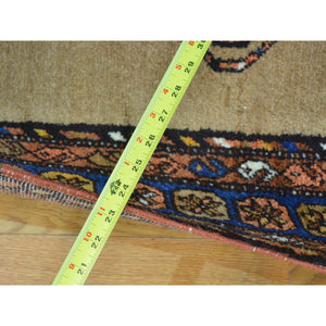 "3'9""x14'4"" Antique Persian Serab Camel Hair Exc Cond XL Runner Rug FWR163062"