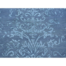 "Load image into Gallery viewer, 2'9""x6'9"" Wool and Silk Damask Runner Tone on Tone Handmade Oriental Rug FWR164436"