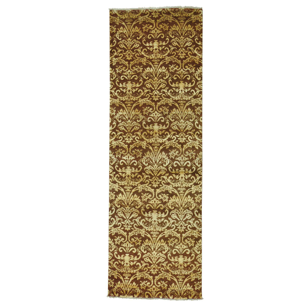 Handmade Modern and Contemporary Brown Rug