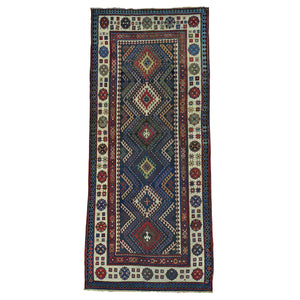 Handmade Antique Multicolored Rug