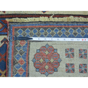 4'x9' Antique Caucasian Talesh Exc Cond Wide Runner Hand Knotted Rug FWR169368