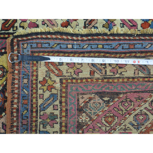 "2'10""x7'8"" Antique Caucasian Gendge Exc Cond Runner Hand Knotted Rug FWR169374"