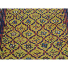 "Load image into Gallery viewer, 4'x9'10"" Antique Caucasian Dagestan Vegetable Dyes Wide Runner Rug FWR169380"