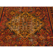 "Load image into Gallery viewer, 4'10""x9'7"" Semi Antique Persian Hamadan Wide Runner Overdyed Vintage Rug FWR169830"