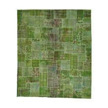 Load image into Gallery viewer, Handmade Overdyed and Vintage Green Rug