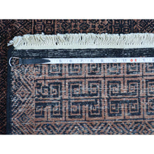 "Load image into Gallery viewer, 3'9""x6' Pure Wool Modern Gabbeh Tone on Tone Hand Knotted Oriental Rug FWR172926"