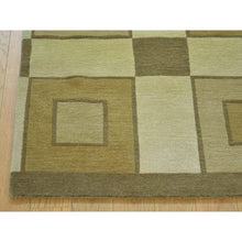 "Load image into Gallery viewer, 2'4""x3'1"" Pure Wool Modern Nepali Hand Knotted Oriental Rug FWR175920"