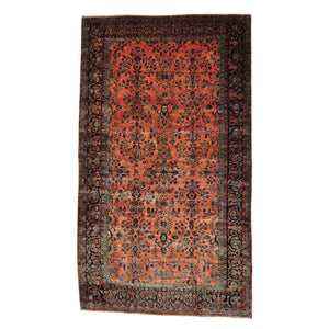 Handmade Antique Orange Rug