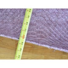 "Load image into Gallery viewer, 6'1""x9' Purple Wool and Silk Tone on Tone Hand Loomed Rug FWR178338"