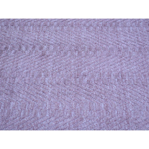 "6'1""x9' Purple Wool and Silk Tone on Tone Hand Loomed Rug FWR178338"
