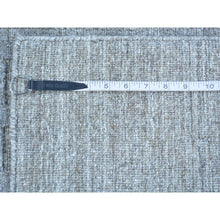 Load image into Gallery viewer, 2'x3' Grey Tone on Tone Hand Loomed Wool and Silk Rug FWR179658